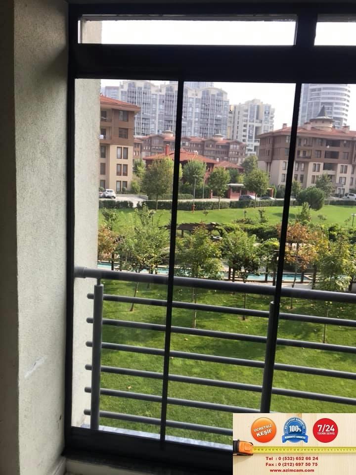 Bosphorus City Erguvan Evleri Füme Cam Balkon